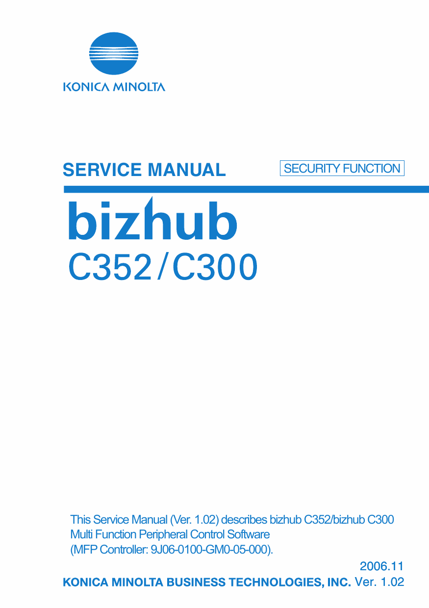 Konica-Minolta bizhub C300 C352 SECURITY-FUNCTION Service Manual-1